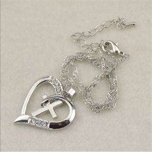 Jewelry - Heart with a cross necklace